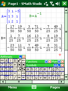 SMath running on Windows Mobile