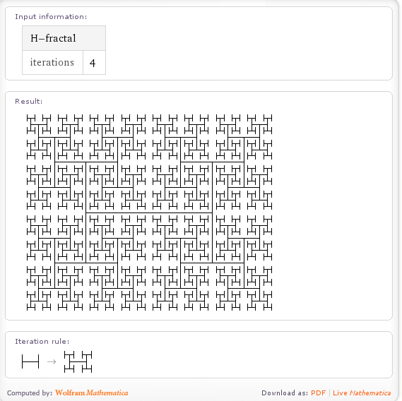 The H-Fractal from Wolfram Alpha
